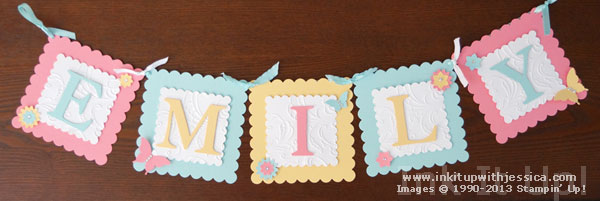 handmade banners for your home ink it up with jessica card