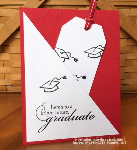 Diagonal Pocket Graduation Card Ink It Up With Jessica Card