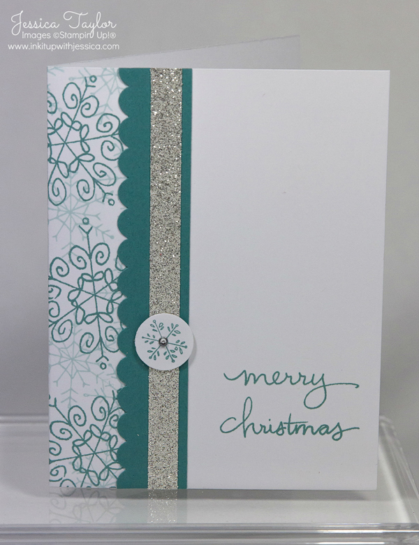 Exceptional Stamping Ideas For Card Making Part - 6: Snowflake Card