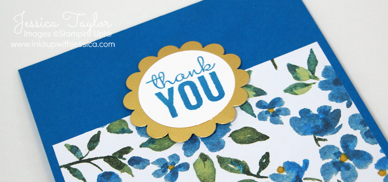 Painted Blooms Thank You Card
