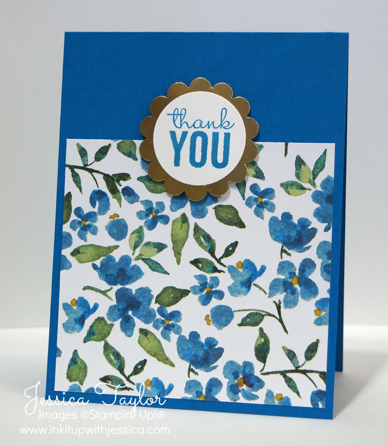 Ideas For Making Thank You Cards Part - 33: Painted Blooms Thank You Card