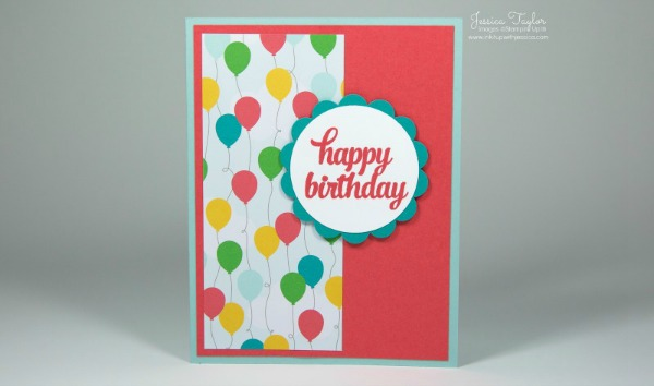 Cherry On Top Scallop Birthday Card Paper Sizes