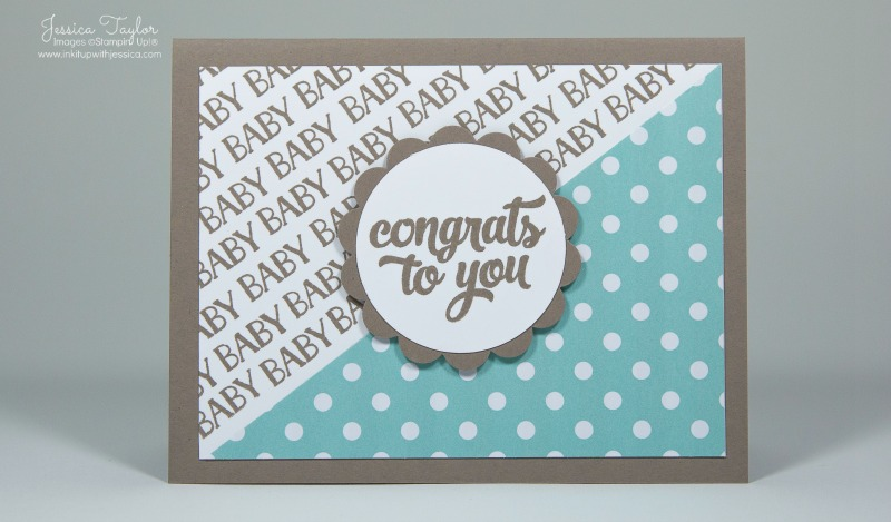 Delightful Baby Card Making Ideas Part - 6: Congratulations Baby Boy Card