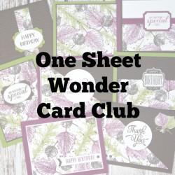 One Sheet Wonder Card Club