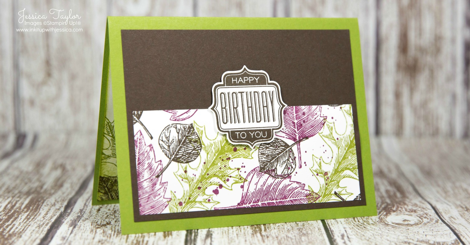 Vintage Leaves Birthday Card for Men Ink It Up with Jessica – Birthday Cards for Men