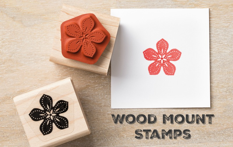Stampin Up Wood Mount Stamps