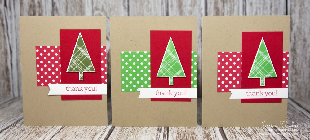 A Tale Of 3 Christmas Thank You Cards - Ink It Up! With Jessica