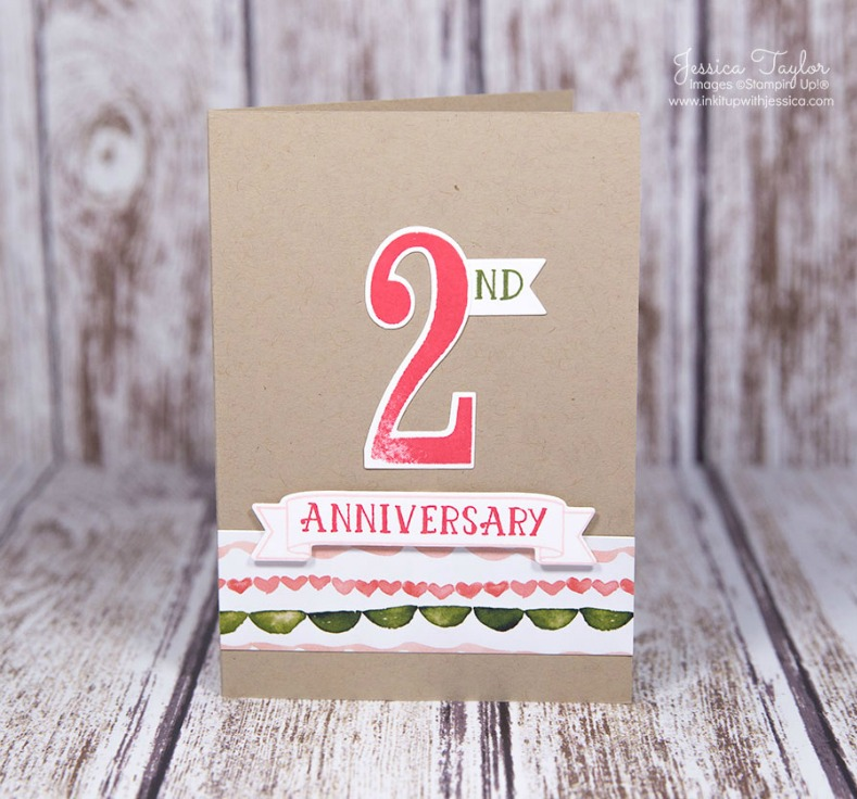 number of years anniversary card ink it up with jessica card