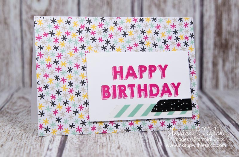 Confetti Birthday Card with the It's My Party Designer Series Paper and Party Wishes stamp set from Stampin' Up!
