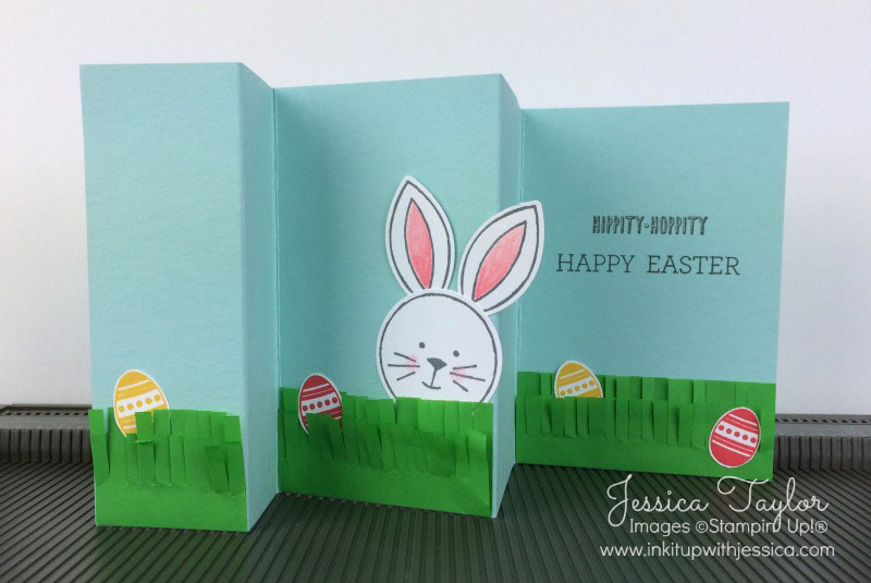 Ideas For Easter Cards To Make Part - 38: Easter Fun Fold Card By Jessica Taylor Using The Friends U0026 Flowers Bunny