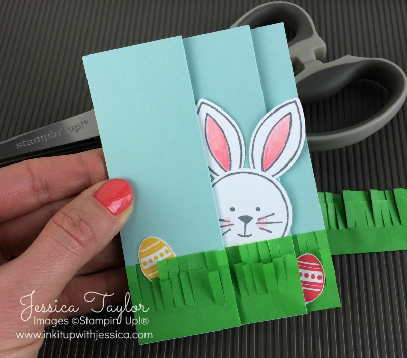 Easter Fun Fold Card with Friends & Flowers Bunny