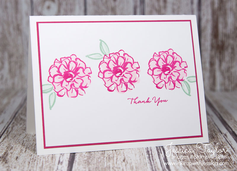 Thank You Card with What I Love stamps