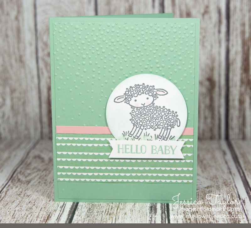 Easter Lamb Baby Card