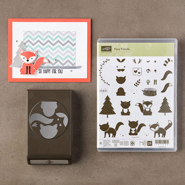 Foxy Friends stamp set & punch