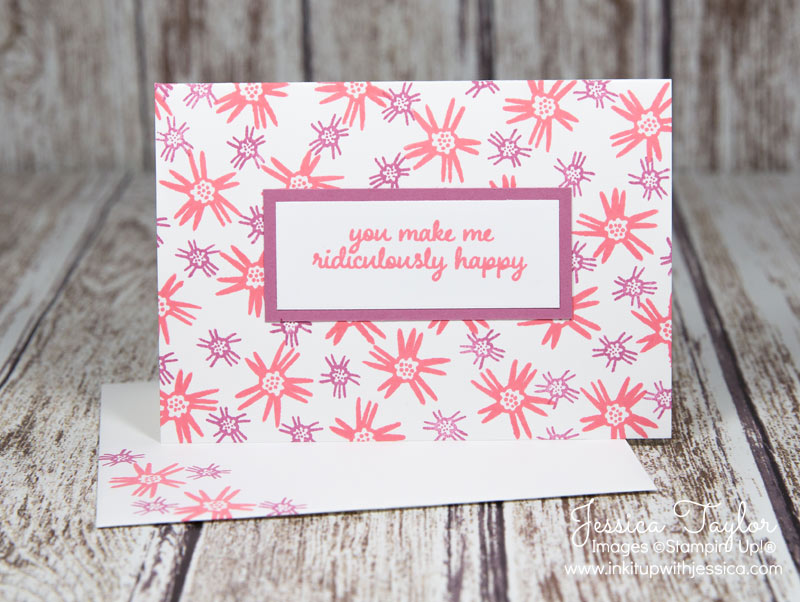 Fireworks Card with Love & Affection stamp set