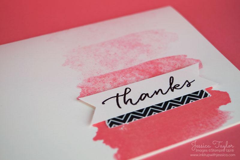Flirty Flamingo Watercolor Thank You Card