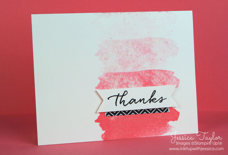 watercolor thank you card ink it up with jessica card making