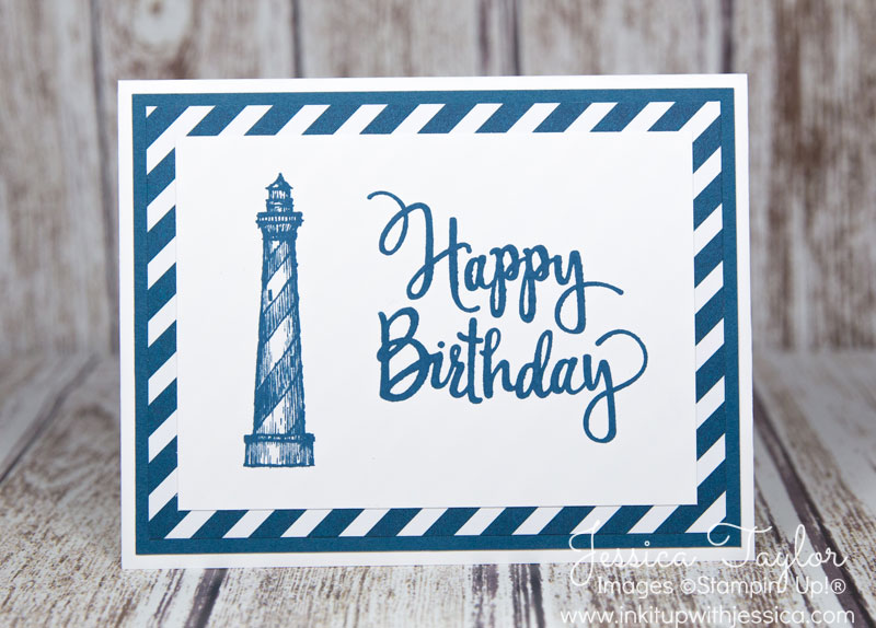 Lighthouse Birthday Card {with an easy layout}