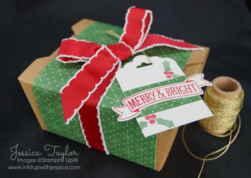 Christmas Gift Box with a handmade gift tag