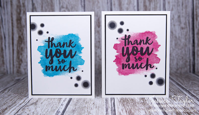 Splash of Color Thank You Cards