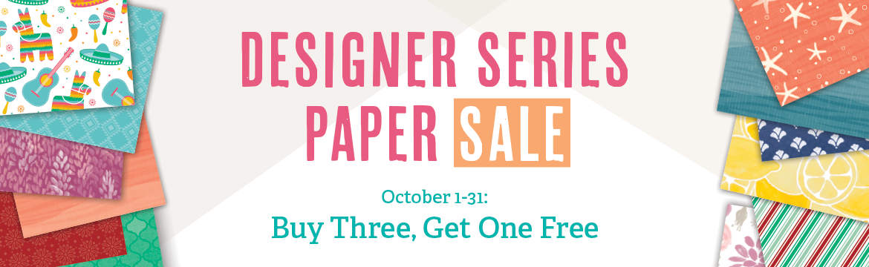 Designer Series Paper Sale