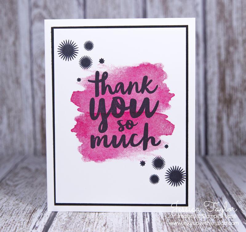 Splash of Color Thank You Card in Melon Mambo