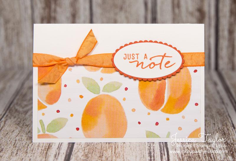 Peachy Note Card