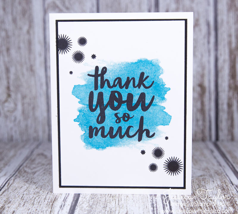 Splash of Color Thank You Card in Tempting Turquoise