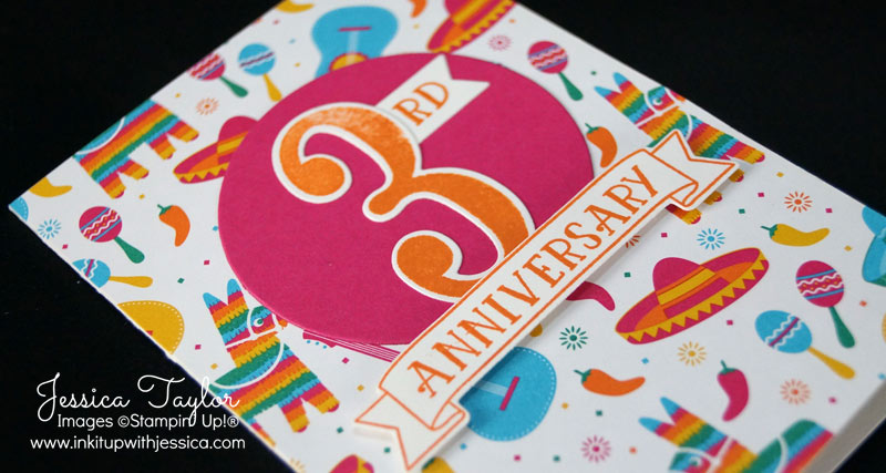 Festive Birthday Anniversary Card Detail