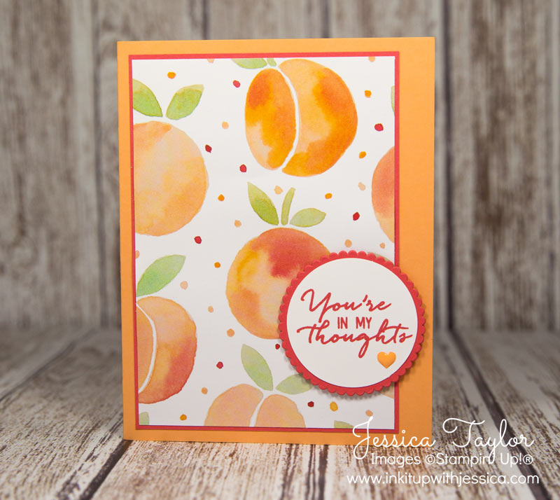 Thinking of You Card with Fruit Stand Paper from Stampin' Up!