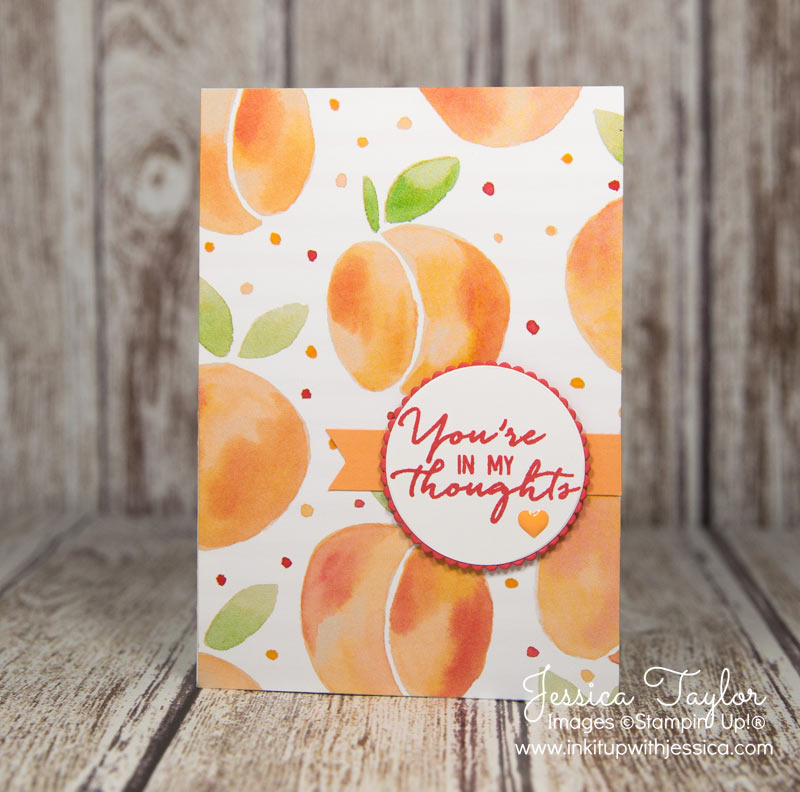 Thinking of You Note Card with Fruit Stand Paper from Stampin' Up!