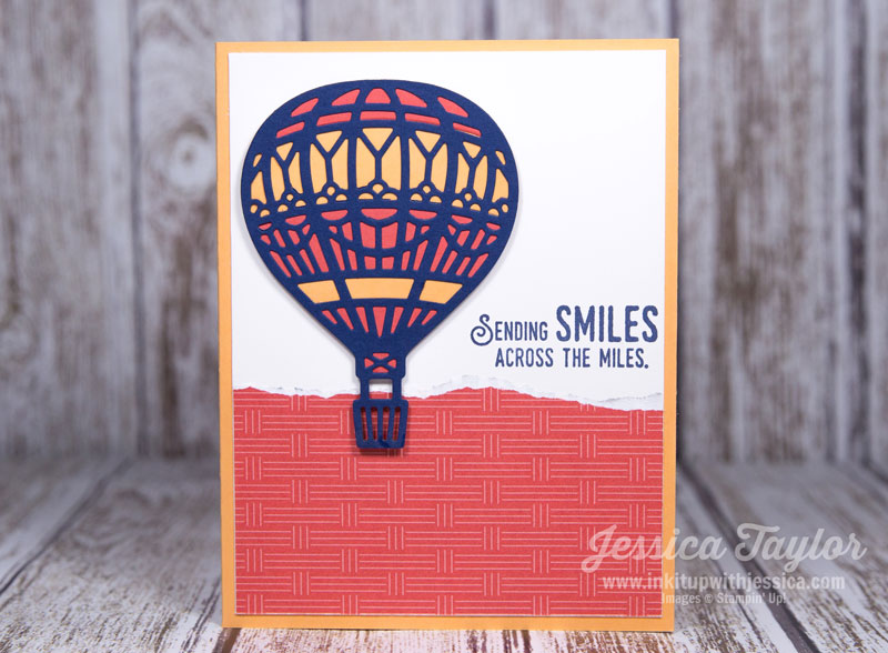 Hot Air Balloon Card Ink It Up With Jessica Card Making Ideas