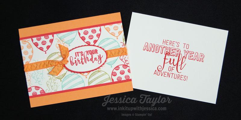 Balloon Adventures Birthday Card + the Inside