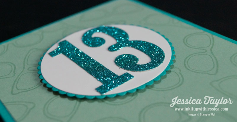 13th Birthday Card Glitter Detail