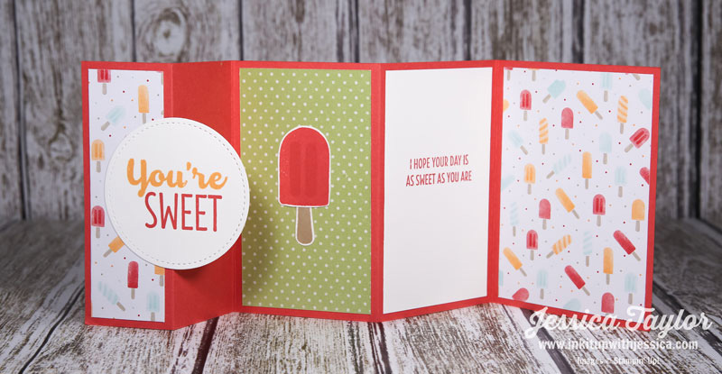Summer Popsicle Fun Fold Card