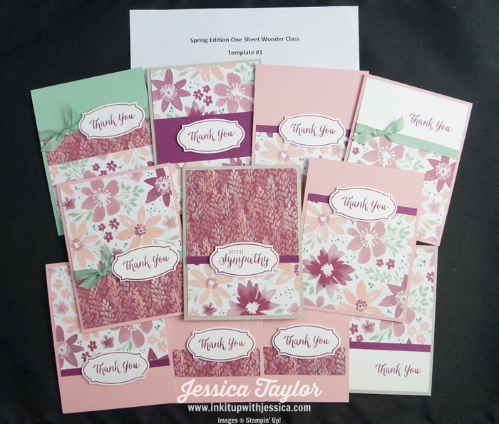 Floral One Sheet Wonder Thank You Card