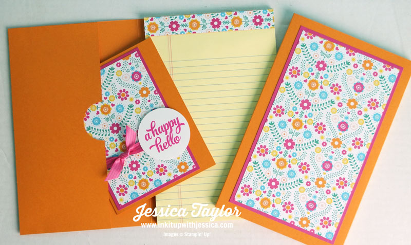 Festive Note Pad Cover & Card