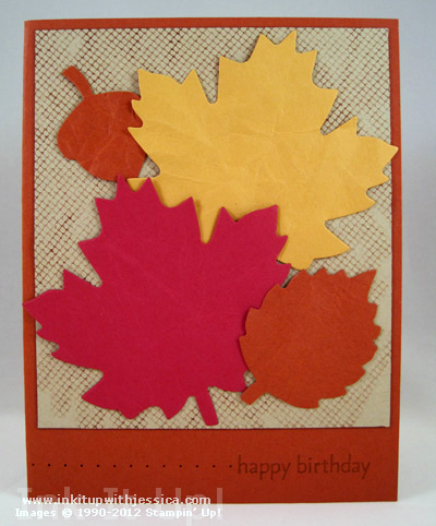 Fall Birthday Card Idea Ink It Up With Jessica Card Making Ideas