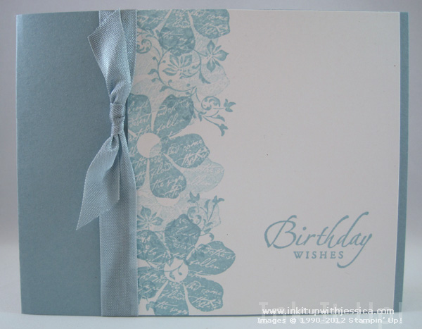 Monochromatic Birthday Card Ink It Up With Jessica Card Making