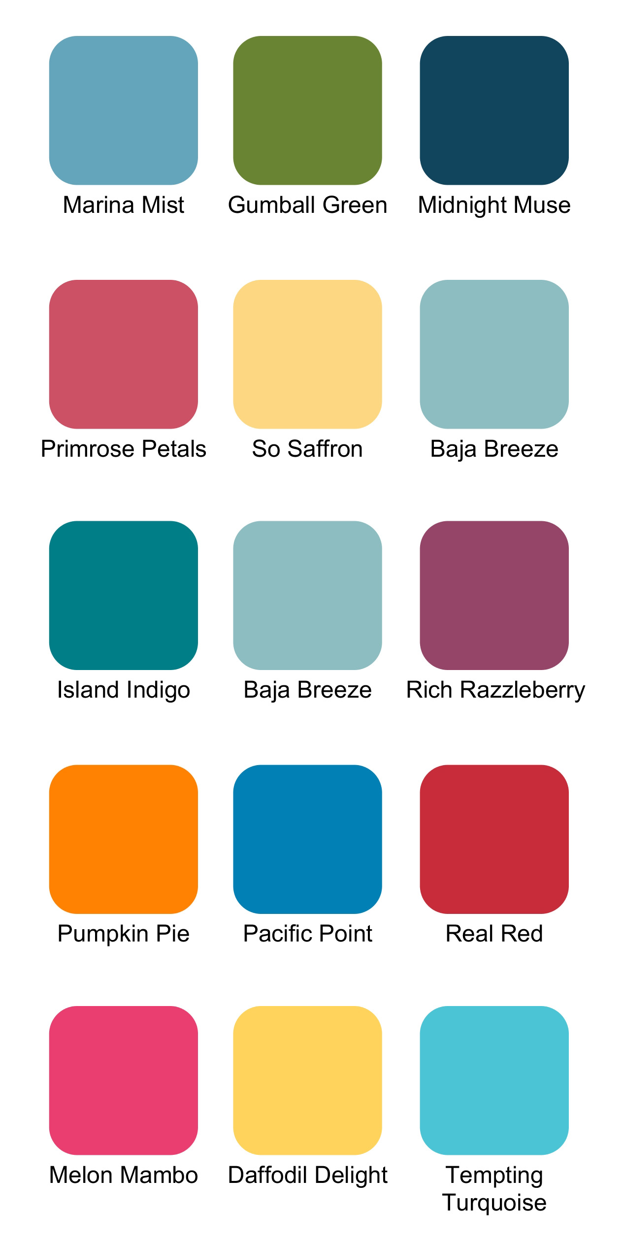 Card Ideas Stampin Up Color Combinations For Summer Ink It Up