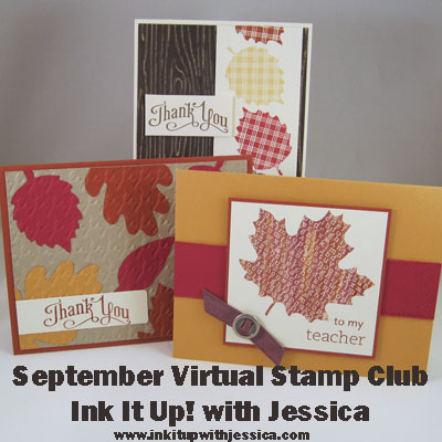 Fall Stampin' Up! Cards - Ink It Up! Virtual Stamp Club September 2012